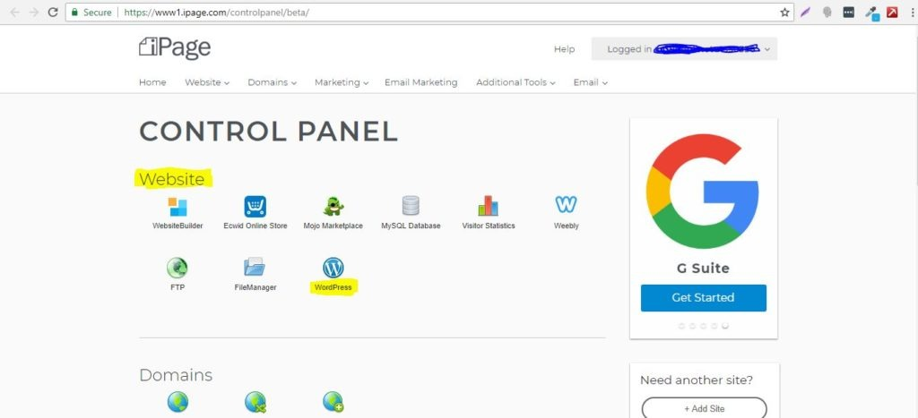 iPage WordPress Installation