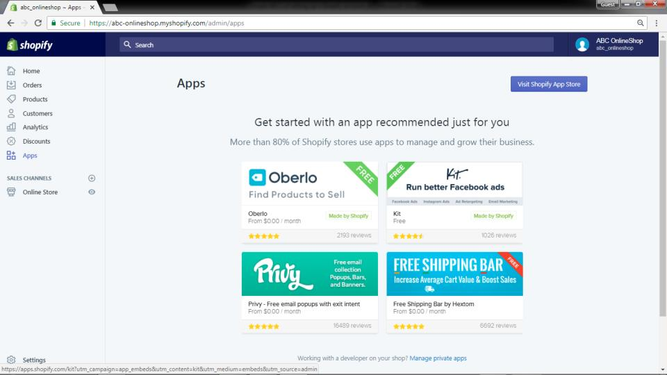 Apps Page